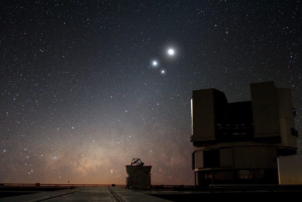 Koniunkcja Jowisza Wenus i Księżyca