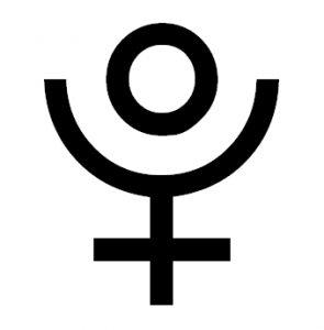 symbol Plutona astrologia horoskop