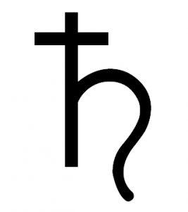 symbol Saturna astrologia horoskop